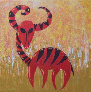 antilope-peinture-acrylique